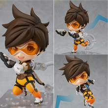 Nendoroid Tracer Lena Oxton PVC Action Figure Collectible Model Toy 11.5cm(China)