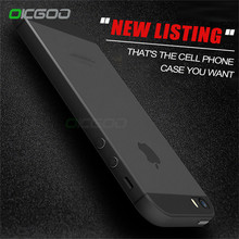OICGOO Ultra Thin Matte Phone Case For iPhone 5 5s SE Back Transparent Full Cover Case For iphone 5 5s Cases Phone Bag(China)