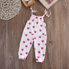 Newborn Baby Girl Infant Toddler playsuit Jumper Hearts Romper Jumpsuit Clothes(China)