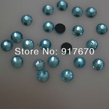 Promotion DMC Hotfix Rhinestone SS16 aquamarine 1440pcs/pack CPAM Iron on transfer stones and crystals Garment accessories(China)