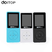 "DOITOP MP4 Player 80 Hours Music Playing 1.8"" Screen HiFi Sound MP3 MP4 Walkman 8GB Portable Audio Video Player E-book FM #3(China)"