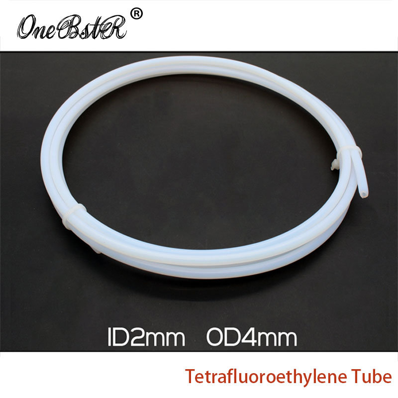Special Offer 1 Meter 2X4 Tetrafluoroethylene Tube 1.75mm Supplies PTFE Tube 3D Printer Imported Teflon Remote Nozzle Feed Tube<br><br>Aliexpress
