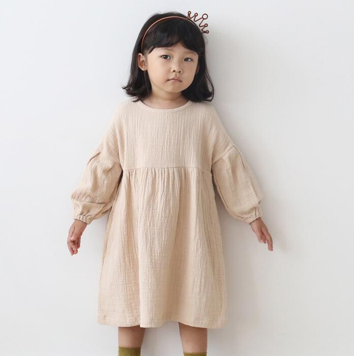 Minetom Sommer Kinder M/ädchen Prinzessin Shirts Kleider S/ü/ß Schwarz Wei/ß Gestreiften Rundhals Langarm Sommerkleid Partykleid