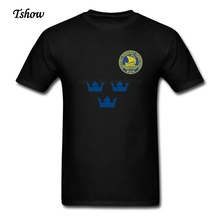 XS-3XL Sweden Team Hockeyer T Shirt Man Cool Summer Short Sleeve T-Shirt Dad Exercise Round Neck 2017 Plus Size Tees Top Clothes(China)