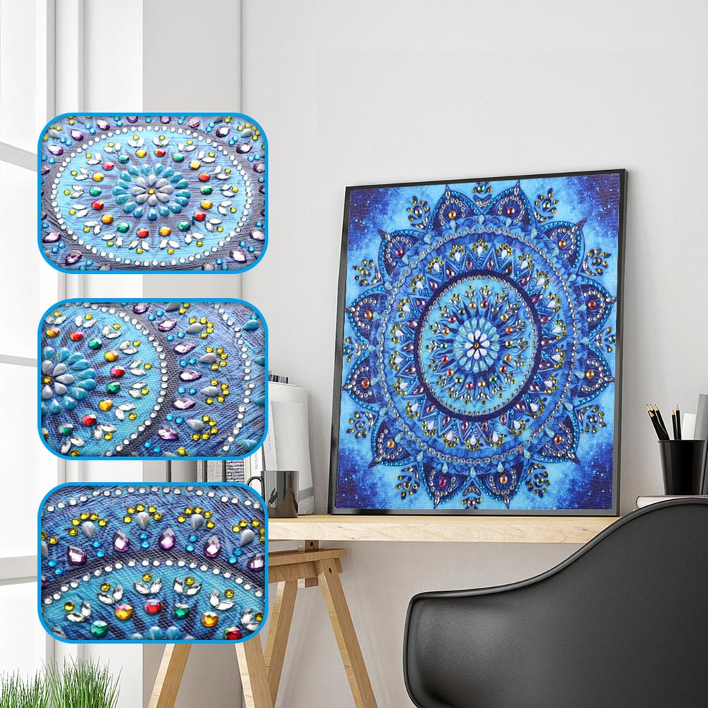 Geometric Flower 5D Full Drill Diamond Painting Embroidery DIY Cross Stitch Kits