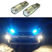 2pcs LED W5W T10 canbus Car Light with Projector Lens For TOYOTA Avensis Prius 4Runner Camry Avalon FJ Cruiser Solara Tundra