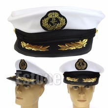 Adult Yacht Boat Captain Ship Sailor Hat Navy Cap Costume Party Cosplay Dress -Y107
