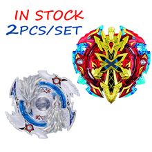 2pcs/set Spinning Top Beyblade Burst B-48 B-66 Metal 4D Fighting Gyro Battle Fury Toys Christmas Gift For Kid In Stock F3(China)