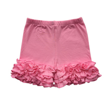 Cotton Ruffle Baby Shorts Maroon Toddler Girls Shorts Kids Knit Icing Baby Girls Shorts Children spring/Summer Girls Clothes