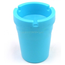 Mini Portable Ashtray Cigarette Cup Car Butt Bucket Smoke Ash Holder Candy Color#T025#(China)