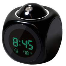 Multifunction Alarm Clock Digital LCD Display Voice Talking LED Projection Temperature Decor
