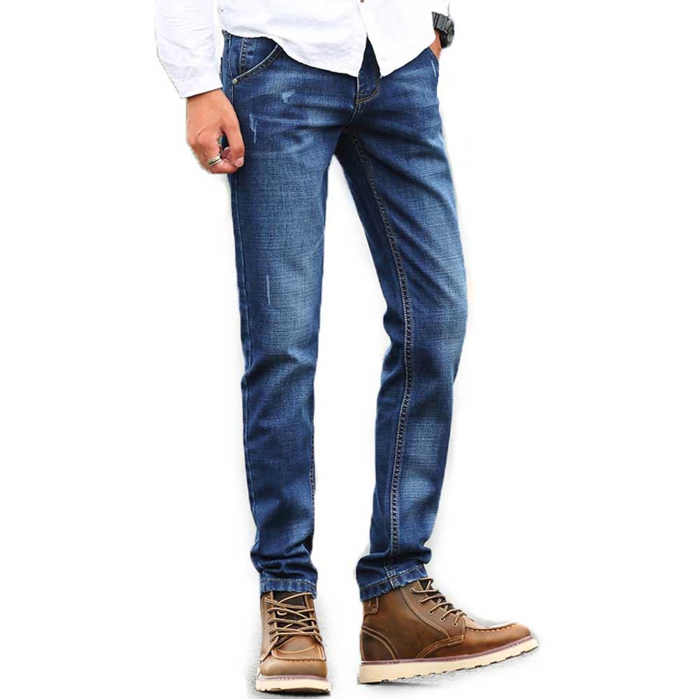 Mens Slim Jeans Scratched Washed Bule Denim Pant Trousers for Male High Quality Homme Pantalones Vaqueros NBSBL011Одежда и ак�е��уары<br><br><br>Aliexpress