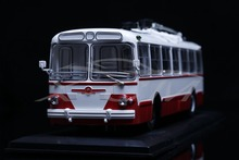 Diecast Trolley Bus Model Soviet Union Russian ZIU-5 1:43 (Red/White) + SMALL GIFT!!!