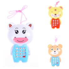 Kawaii Baby Cartoon Music Phone Toys Educational Learning Toy Phone Gift for Kids Children's Toys Random Color(China)