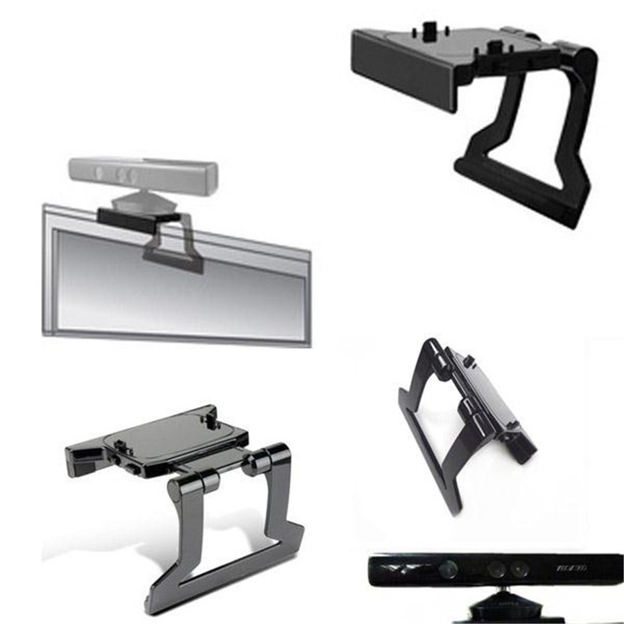 Hot-TV-Clip-Clamp-Adjustable-Mount-Mounting-Plastic-Stand-Holder-for-Microsoft-Xbox-360-Kinect-Sensor