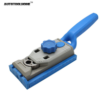 AUTOTOOLHOME 2 in 1 Pocket Hole Jig System Drill Guide Wood Doweling Joinery Clamping Jig for Woodworking Drilling(China)