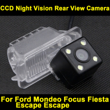 Waterproof 0Lux/ 4 LED Rear view Camera BackUp Reverse Parking Camera for FORD Fiesta Focus S-MAX Mondeo reverse camera 8170LED(China)