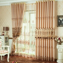 FYFUYOUFY High-grade European Hollow out embroidery living room curtains Double jacquard cloth art Light luxury Shading curtain