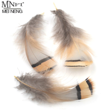 MNFT 50PCS Natural Ginger Color Saddles Feather Grizzly Flies Wing Making Feather Hairs Pheasant Fly Tying Materials