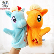 Children Stuffed Toy Horse Games Puzzle cartoon animals hand puppet kid baby toys birthday gift