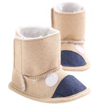 2016 new design Baby Leopard Snow Boots Soft Crib Shoes Toddler Boots botas de tacos de futbol tobillera Krystal