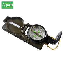Zinc alloy outdoor hiking travel Mountain climbing camping adventure Army green mini Lensatic Compass