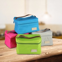 4 Colors Square Thermal Lancheira Lunch Bag Cooler Beam Port Lunch Box Work School Picnic Lady Handbag Kids Lunch Bags