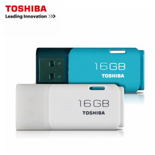 TOSHIBA USB flash drive 64GB Real Capacity USB 2.0 32GB 16GB 8GB USB flash drive quality Memory Stick 16G Pen Drive original(China)
