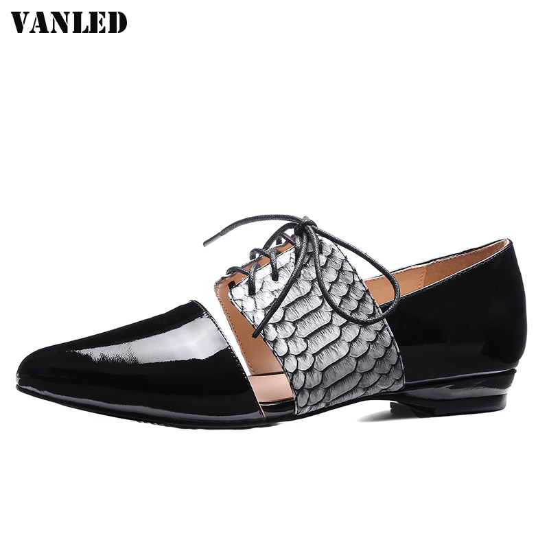 VANLED Mixed Colors Women Flats Casual Fashion Flats Women Shoes Mary Janes Lace-Up flats women shoes Brand New Flat Shoes<br>