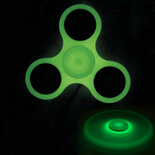 Glow in Dark Luminous Tri-Spinner Fidget Spinner Toys EDC Hand Spinner ABS Plastic Puzzles For ADHD Austim Antistress Toys