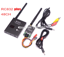 FPV 5.8G 5.8Ghz 600mW 48 Channels Wireless AV Transmitter and Receiver TS832 RC832 Plus Tx Rx Set for aircraft 5KM Range(China)