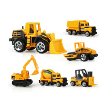 6 types Diecast mini alloy construction vehicle Engineering Car Dump-car Dump Truck Model Classic Toy Mini gift for boy