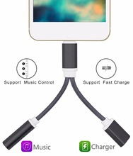Buy ACCGUYS Audio Cable Adapter iPhone 7 7 plus Earphone Cable Lighting 3.5mm 2 1 Headphone Jack Aux Cable Converter for $8.47 in AliExpress store