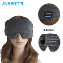 JINSERTA Wireless Stereo Bluetooth Earphone Sleep Mask Phone Headband Sleep Soft Headphones for Sleeping Eye Mask Music Headset