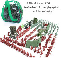 toy soldiers set of 238 people model army training 3cm soldiers for boy with bag whole sale Christmas Gifts free shipping
