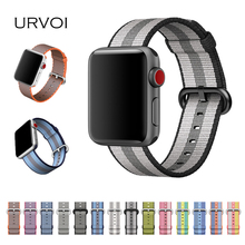 URVOI 2017 band for apple watch series 3 2 1 woven nylon band fabric-like feel strap for iWatch colorful pattern classic buckle(China)