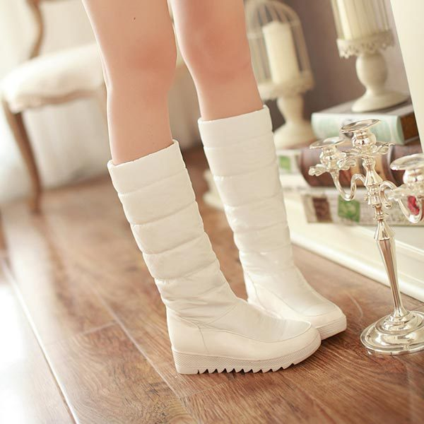 New 2014 knee high heels snow boots shoes Down Knight boots platform Women Fashion long Boots Platform Shoes winter tall boots<br><br>Aliexpress