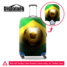 Dispalang Excellent Brazil Ball Elastic Travel Luggage Protective Covers Flag Pattern Suitcase Cover Apply To 18-30 Inch Case(China)