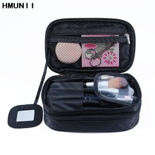 HMUNII Cosmetic Bags Makeup Bag Women Travel Toiletry Bag Professional Storage Brush Necessaries Make Up Organizer Case Beauty(China)