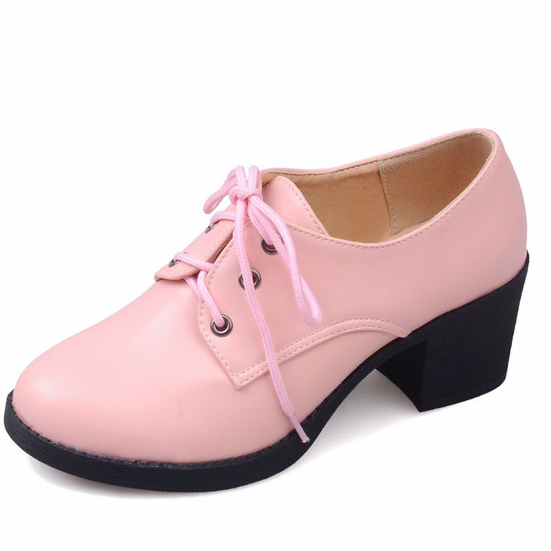 sweety girl style high quality PU solid color lace-up popular leisure woman pumps woman square and med heel boots woman ss262<br><br>Aliexpress
