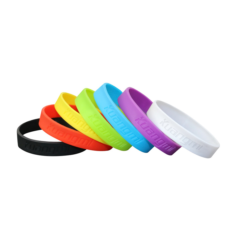 7 Pcs Kuangmi Multicolor Silicone Rubber Flexible Wristband Bracelet Basketball Sports Wrist Band<br><br>Aliexpress