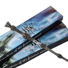 New Arrive Metal/Iron Core Albus Dumbledore Old Wand/ Harri Potter Magic Magical Wand/ Elegant Ribbon Gift Box Packing(China)