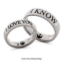 Star Wars Rings I Want To Know Couple Rings Lovers Stainless Steel Ring Valentine's Day Gift Best Gift Promise Ring