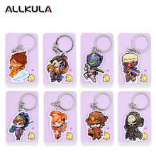 ALL Characters Tracer Reaper Widowmaker Action Figure OW Game Keychain Pendant Key Accessories SS01-24(China)