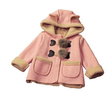 BibiCola autumn winter children clothes outerwear baby girls warm jackets kids thick coats for Child Hooded Girls' long Hoodies(China)