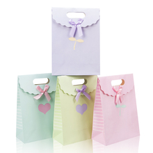 2017 New Arrival Small Gift Bags With Handles Wedding Event Kraft Paper Candy Bags Accessory Gift Bag Packing Bag For Shopping