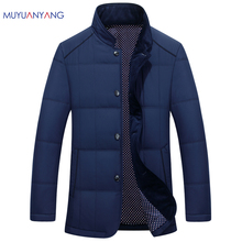 Mu Yuan Yang 2017 New Arrivals Men Parkas Single Breasted Jackets And Coats 50% off Men Parkas Autumn Winter Warm Parka Overcoat(China)