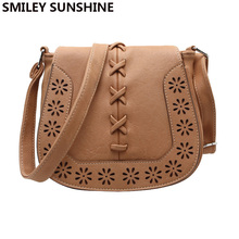 SMILEY SUNSHINE casual shoulder bags women small messenger bags ladies retro design handbag saddle female crossbody bags bolsas(China)