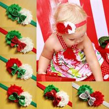 2014 toddler newborn headbands children shabby flowers for headband sequinbows baby girls christmas hair accessories