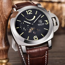 BENYAR Brand Dive Mechanical Watches Men Sport Military Genuine Leather stainless steel case Automatic Watch Relogio Masculino(China)